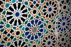 Alicatado asimétrico en la Alhambra de Granada